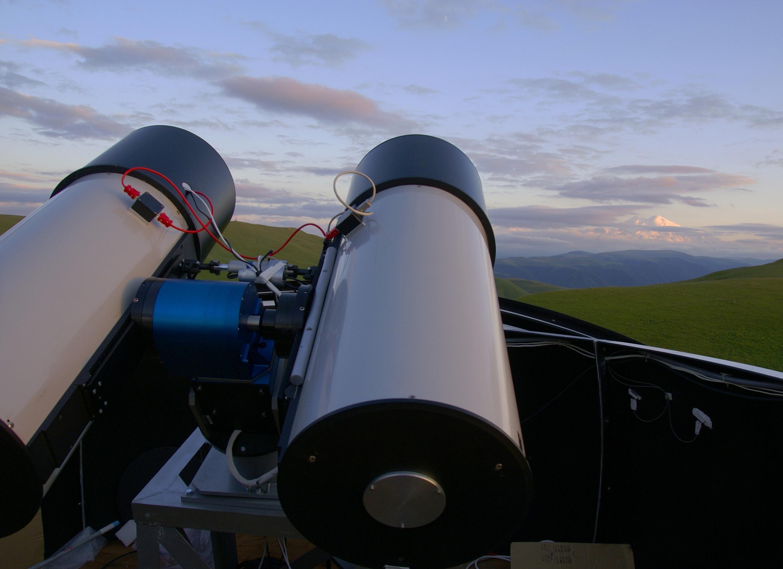 Телескоп системы МАСТЕР под Кисловодском.